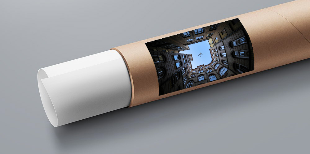 Tube papier photo